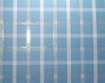 Blue Plaid sparkle