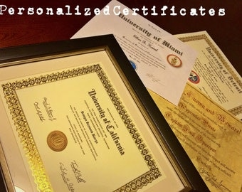 Personalized Certificates/Awards