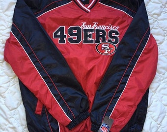 49ers new w tag pullover wind breaker sz M