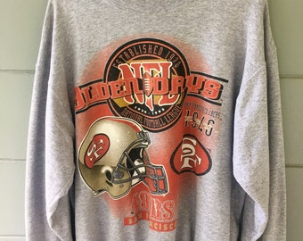 Vintage san fran 49er crewneck sz L mens / xl womens minor paint stain on sleeve check pictures. Very minor though