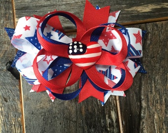 6 inch 4th of July stacked bow