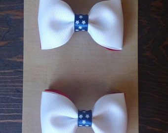 4 of July, Bow Set, Baby Girl Accessories, Baby Clip