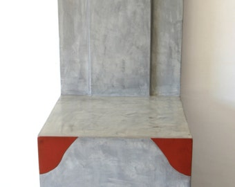 Chair bicolor throne in concrete