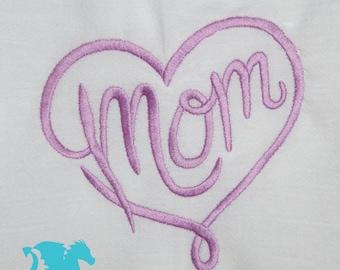 Love Mom Flour Sack Towel - Mother's Day Gift - For Mom - Tea Towel