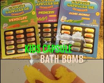 Kids Capsule Bath Bomb Kids Bath Bomb Surprise Bath Bomb Kids Bath