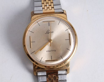 Vintage Old German Made Laco Electric Men's Wrist Watch.