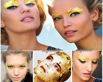 20 pcs gold leaf make up face paint body painting stage fancy dress party lover artist
