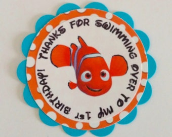 Finding Nemo Favor or Gift Tags