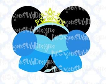 Cinderella Mouse Head SVG,EPS,PNG,Studio