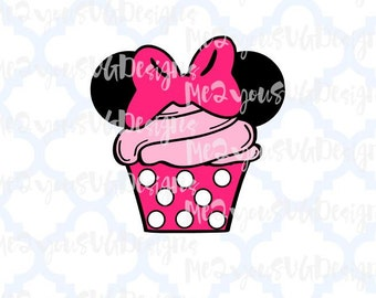 Minnie Cupcake SVG,EPS,PNG,Studio