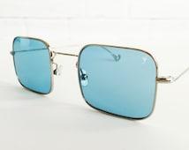 Vintage square retro sunglasses, 70s style square sunglasses, Vintage eyewear, Eyepetizer CONTA 1-2 eyewear