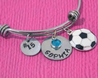 Soccer Bracelet   Soccer Jewelry   Soccer Charm   Soccer Girl Birthday Gift    Gifts for Soccer Players   Soccer Team Gift Ideas   Soccer  