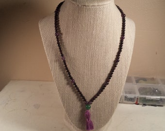 Red Jasper,  Amethyst,  and Aventurine Pocket Mala