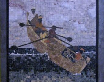 "Unique mosaic art--""Out to sea"""