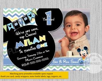 Mickey Mouse Birthday Invitation gangcraftnet