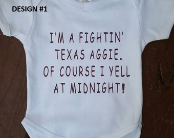 Texas Aggie Midnight Yell One Piece