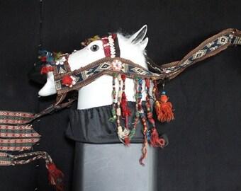Horse head dress.