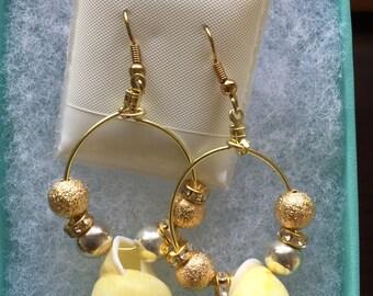 Golden Sunrise Dangle Earrings