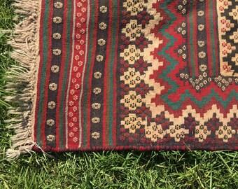 "Vintage Persian Rug Soumak (Sumak) Kilim 247cm x 152cm (8'1"" x 5'0"")"