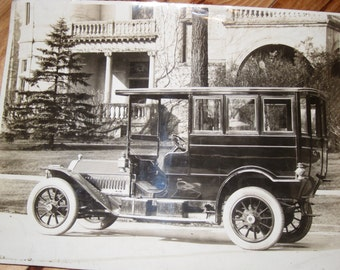 Vintage Packard Early 1900s Automobile Photograph