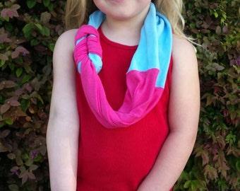 Child t-shirt braided scarf
