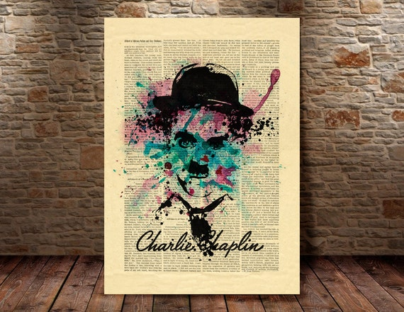 Charlie Chaplin print Charlie Chaplin portrait by ...