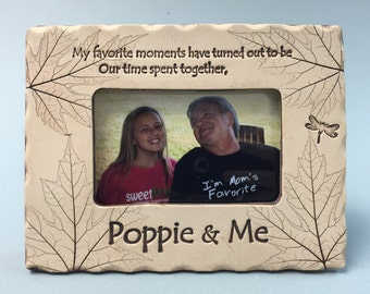 Poppie gifts, poppie frames, best poppie gifts, Father's Day gifts, ddad gifts