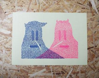 A3 Risograph print