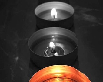 Candles to see life in black and white and color...