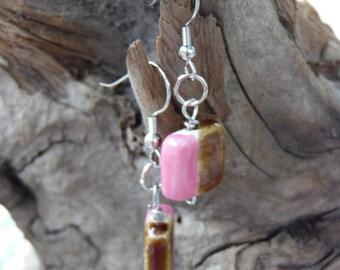 Strawberry Chocolate Dangle Earrings