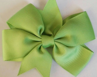 Lime green bow by RoselliesClosetshop