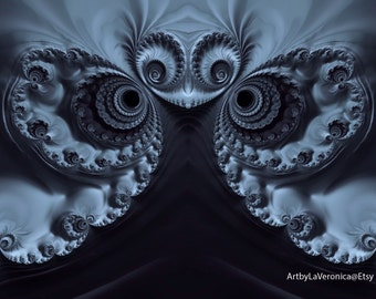 Little Angel/ Fractal inspired art/ abstract.