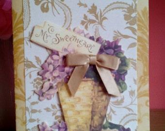 "Greetings Card - ""To My Sweetheart"""