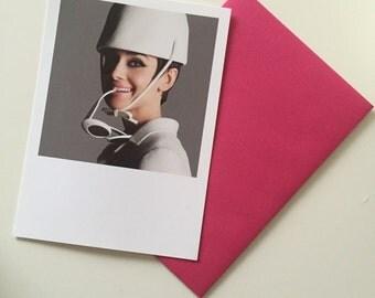Gorgeous Audrey Postcard and Envelope