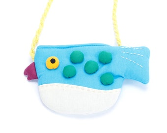 Girls Little Puffer Purse - Blue
