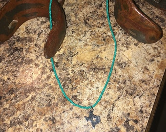 Texas handmade turquoise necklace