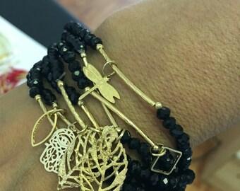 Crystal Stretch Bracelet /Set of 7 pcs