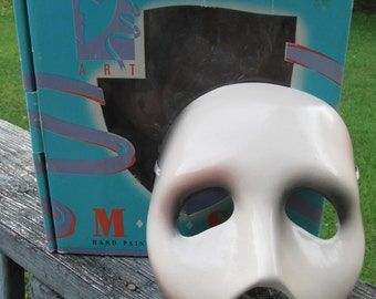 Vintage Clay Art Phantom Of The Opera Mask