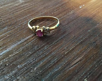 Vintage 18k Ruby Ring Sz. 5.75
