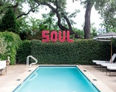 Austin, Texas, Pool, Soul, Quirky print, Summer Print, Photograph, Fine Art, Wall Art, Colorful, Turquoise, Pink, Green, Hotel Saint Cecilia