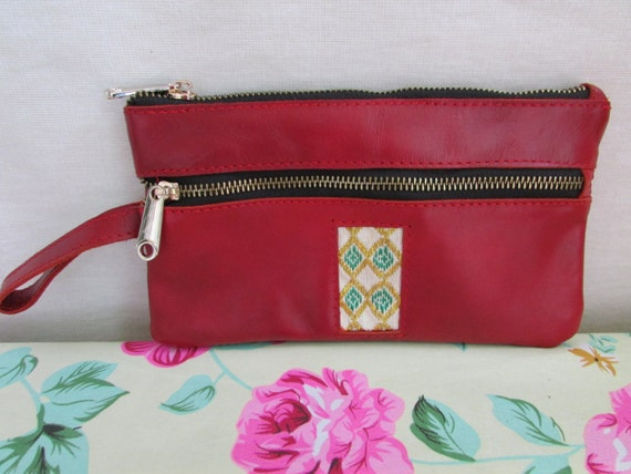 leather wallet, red women's wallet, mini pouches, soft leather pouches, women clutch, coin case, dollar case