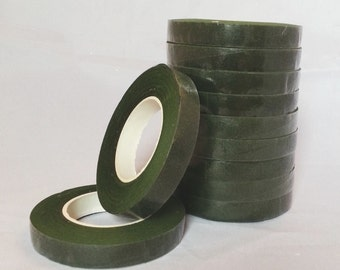 1 Roll Moss Green Stem-Tex Floral Tape 13mm Wide