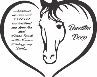 Horse Heart Breathe smell breath deep Horsewomans Horses Lover BuyTrina Soft softstyle top shirt Ladies