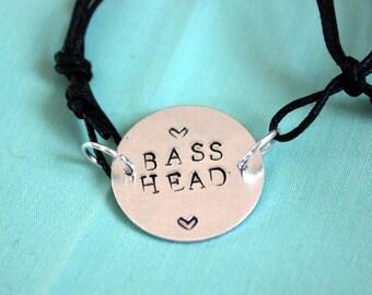 Bass Head stamped bracelet