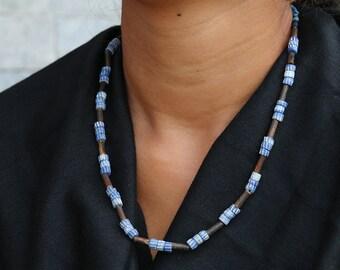 Yak Bone Beaded Nepali Necklace 0072