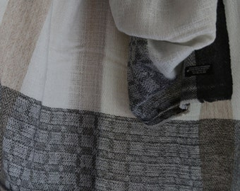 100% Cashmere Scarf 0091 - Handmade in Nepal