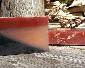 Black Oak Soap for Men - Artisan Glycerin Soap - Oak, Amber, Vanilla, Sandalwood, Lavender - Gift Soap - Gift for Him - Guest Soap