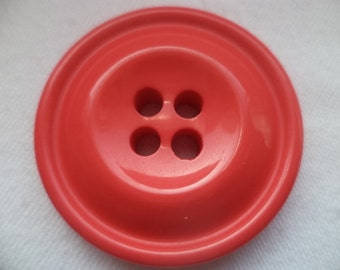 4 large buttons 37mm red (704)