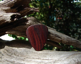 Wooden Guitar Pick, Hand-Crafted, Natural Cocobolo