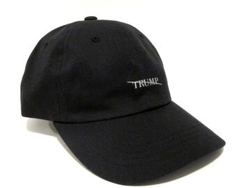 Anti Trump 3m Reflective Minimal Dad Cap with Flag on Back - Presidential Series